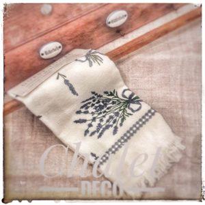Clayre&Eef-Handtuch-Lavendel