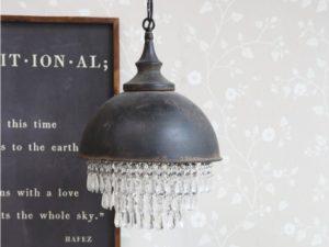 Chic Antique Factory Lampe m. Prismen