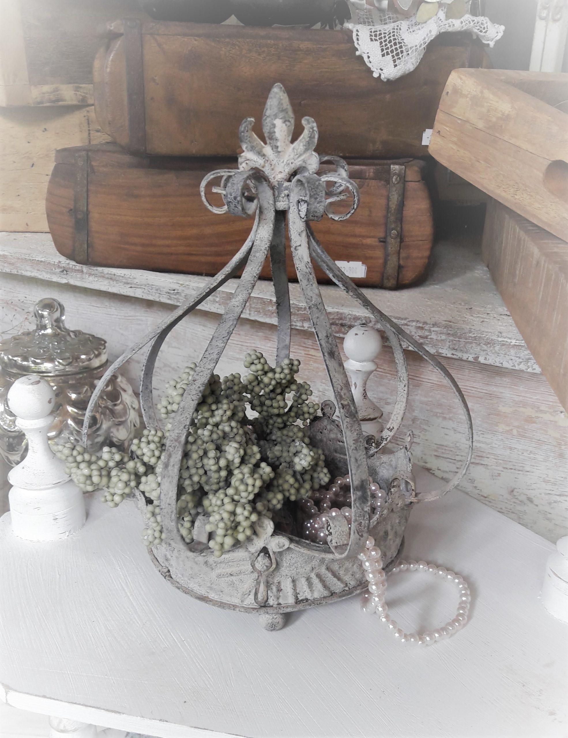 Schale Mit Krone Deko Fur Haus Garten Chalet Deco