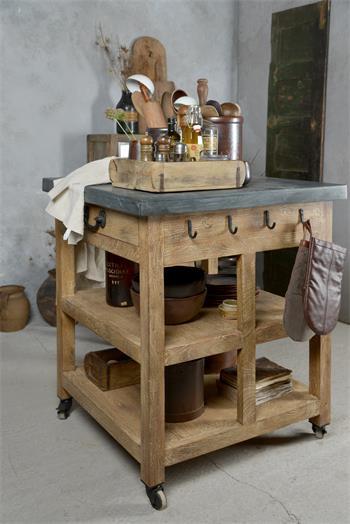 JAL-Kücheninsel-Holz-Mamor