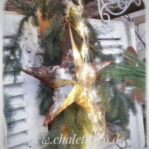 Metallstern-Weihnachtsdeko-Chalet-Deco