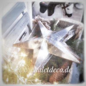 Weihnachtsstern-Deko-Metallstern