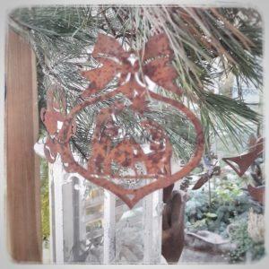 Baumschmuck-Rost-Weihnachtskrippe