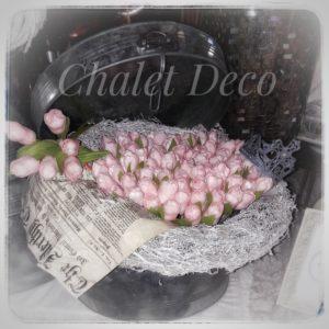 Tulpenstrauß-Chalet-Deco