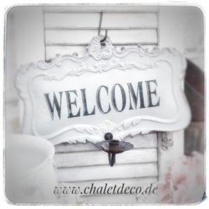 Schild-Welcome-Chic-Antique